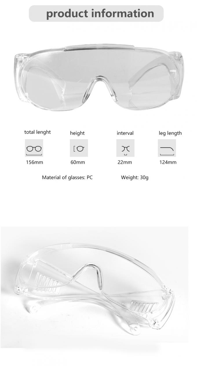 Working Eye Protection Goggles , Fog Proof Safety Glasses Prevent Influenza Virus