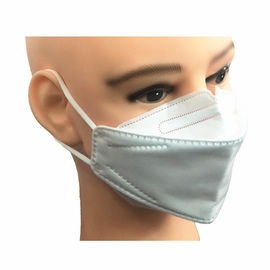 China Breathing Protective KN95 Face Mask , KN95 Dust Mask With Elastic Earloop supplier