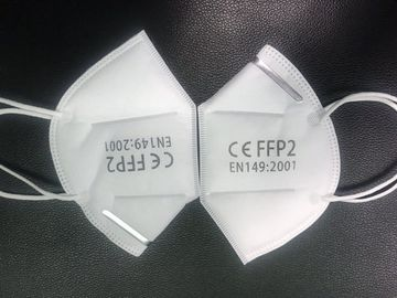 China Non Toxic FFP2 Face Mask , FFP2 Respirator Adjustable Nose Piece For Better Fit supplier