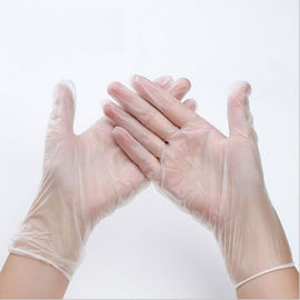China Safety Disposable PVC Gloves , Medical Beauty Household Clear PVC Gloves distributor