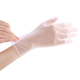 China Non Sterile Disposable PVC Gloves , Clear Medical Examination Gloves distributor